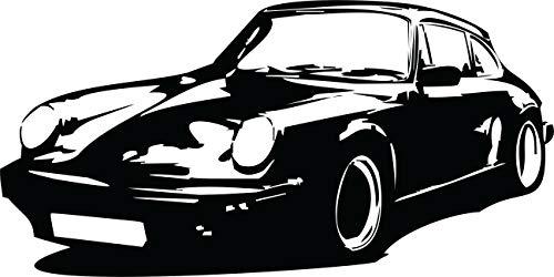 Wandtattoo: Porsche 911, Sportwagen, Auto, G-Modell, Sport, Tuning, Car // Farb- und Größenwahl (Schwarz - 1200 mm x 600 mm)