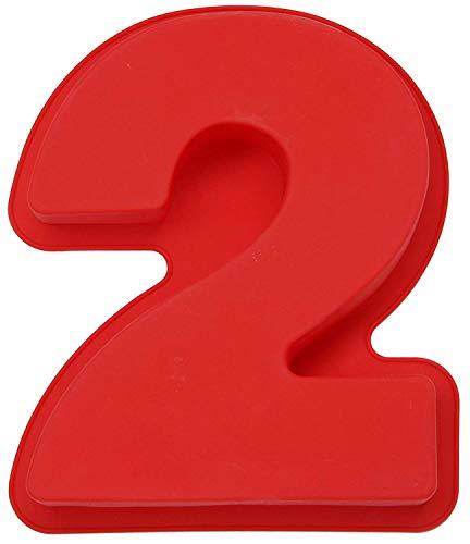 Silikon-Backform für Geburtstage, Hochzeit, Jahrestag, 0-8 Zahlen, DIY Kuchen, Brot, Mousse, Gelee, Silikon, 2, Einheitsgröße