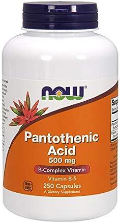 [海外直送品] ナウフーズ  - パントテン酸 500 mg。250カプセル
