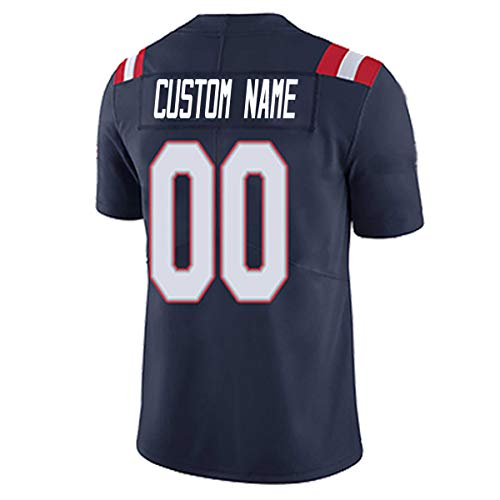 Personalized Football Jerseys Design Your Own Team Name Number for Men Women Youth Adult Boys 2020_Style Jersey Custom (NE_Patriot@)