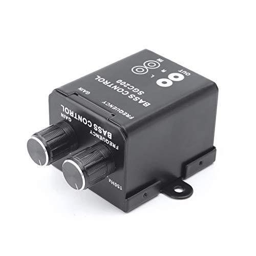 Yintiod Inbussleutel, auto-audio-regelaar, versterker, bas, subwoofer stereo equalizer controller 4 cinch