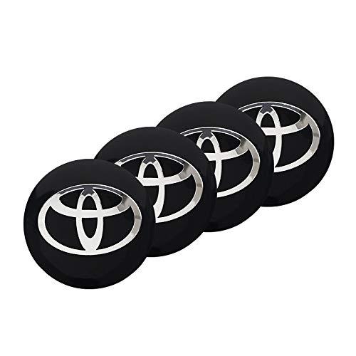 OUIPP Tapas Centrales para Llantas 4pcs Coche Coche Centro Hub Caps Emblema Pegatinas Adecuado para Toyota Corolla Yaris RAV4 Avensis Auris Camry C-HR 86 Prius Prueba Polvo