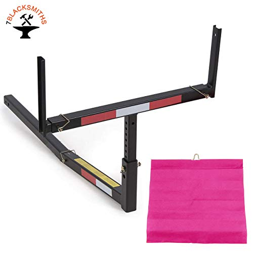 7BLACKSMITH Adjustable Steel Pick Up Truck Bed Hitch Extender Extension Rack for Boat Lumber Long...