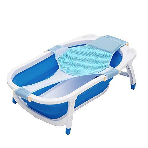 HULISEN Bebé Baño Tubo Apoyo Algodón + Poliéster Bebé Ajustable Baño Asiento para Bebé Baño Red Seguridad Seguridad Asiento Infantil