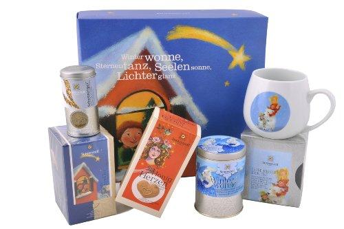 Sonnentor Leise rieselt der Tee-Weihnachtlicher Geschenkkarton, 1er Pack (1 x 232 g) - Bio