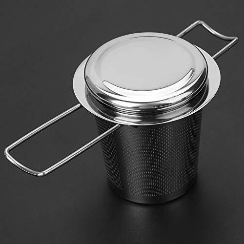 LZKW Mit Deckel Tea Infuser Mesh Sieb, Tea Infuser, für Filtertee Broken Tea, Kaffee und andere kleine Partikel