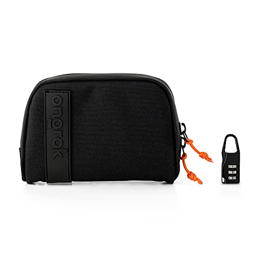 """ONGROK Carbon Technology Pouch, Small (4×6""""), with Optional Lock, Upgraded No Smell Technology, Waterproof Zipper Sealed…"""