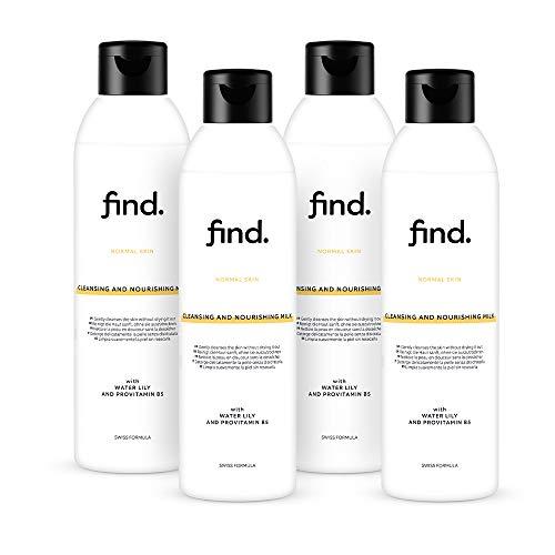 Marchio Amazon - find. Latte detergente e nutriente - Per tutti i tipi di pelle (4x200ml)