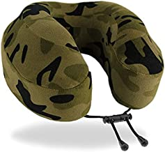 Cabeau Evolution Classic 100% Memory Foam Travel Neck Pillow for Airplanes and Travel, 360-Degree Support Backed by Sleep Science, Camo