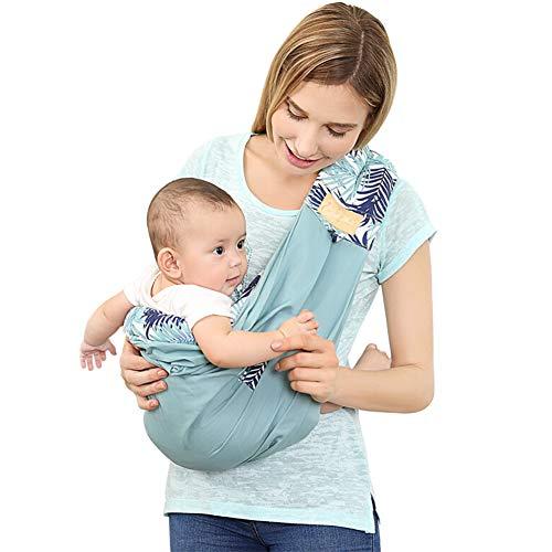 ACEDA Babytragetuch Kindertragetuch Babybauchtrage Ring Sling Tragetuch Für Baby Neugeborene Innerhalb 20 KG,2 Trage-positionen,Baumwolle,Blue