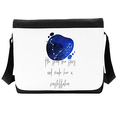 Zodiac Star Sign Pisces He Shed The Stars and Made Her A Constellation Shoulder Bag - Large