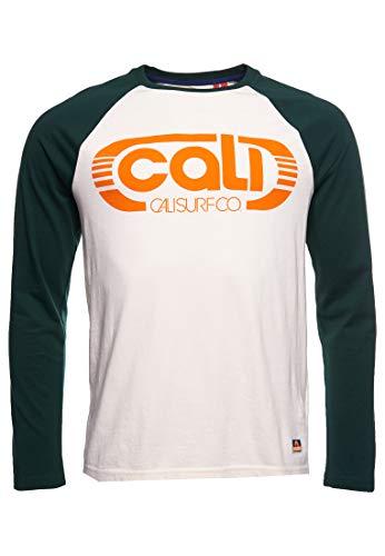 Superdry M6010399A Cali Surf LS - Camiseta de Baloncesto, Crema de Mantequilla, L para Hombre
