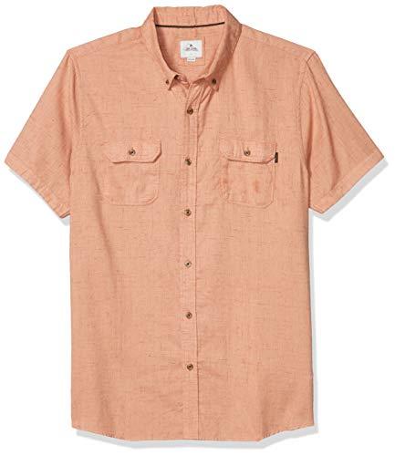 RIP CURL Herren Deckhand Short Sleeve Shirt Hemd, Lachsfarben, Groß