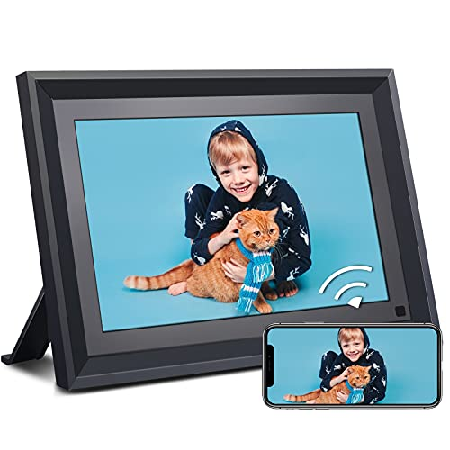 Digital Photo Frame WiFi 10.1'' HD IPS Touchscreen 16GB, USB & SD Card...