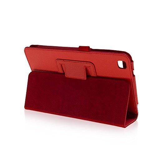 Klassische Hülle mit Standfunktion für Samsung Galaxy Tab 3 8.0 in ROT mit automatischer Sleep- und Wake-Up-Funktion [passend für Modell SM-T310, SM-T311, SM-T315]