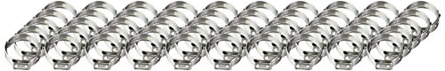 Oetiker 16702498 Stepless Ear Clamp, One Ear, 7 mm Band Width, Clamp ID Range 16.6 mm (Closed) - 19.8 mm (Open) (Pack of 50)