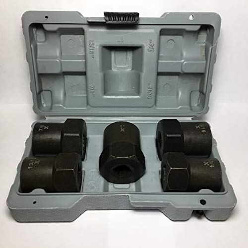 MAXIMUM 1/2 Inch Drive Impact Rated Bolt, Nut & Lug Nut Remover/Extractor Set, 5 Pieces. SAE/Metric Sizes: 3/4 inch (19mm), 13/16 inch (20-21mm), 7/8 inch (22-24mm), 15/16 inch (24mm), 1 inch (25mm)
