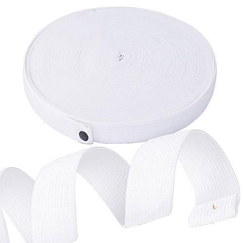 40 m 20 mm breit Gummiband weiß Gummibänder breit für Nähen Basteln Band elastische Gummilitze