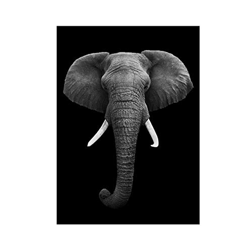 JHGJHK Pintura al óleo del Arte Animal de la protección del Elefante, impresión del Cartel, Pintura al óleo de la decoración de la Sala de Estar y del Dormitorio