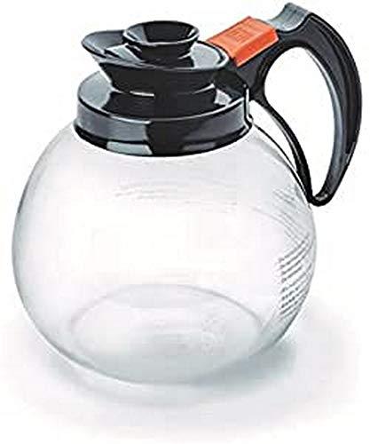Lacor glazen koffiekan, zwart, 17,5 x 30 x 30 cm