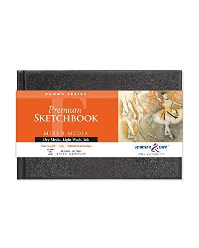 Stillman & Birn Gamma Series Hardbound Sketchbook, 9' x 6', 150 GSM (Heavyweight), Ivory Paper, Medium Grain Surface
