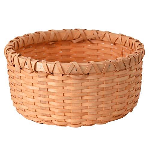 Tejidas a mano canasta de pan rollo cesta Servicio cesta del huevo cesta de picnic for la Alimentación Cosméticos de frutas de almacenamiento de sobremesa y almacenamiento de baño Basket