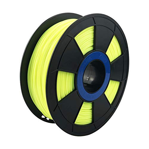 ZIRO 3D Printer Filament PLA PRO Fluorescence Series 1.75mm 1KG(2.2lbs), Dimensional Accuracy +/- 0.05mm,Fluo yellow
