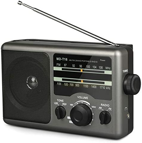 AM FM Portable Radio Battery Operated Radio by 4X D Cell Batteries Or AC Power Transistor Radio product image