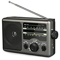 【CLASSICAL FM/AM ANALOGUE TUNER】 Frequency range: 87-108MHz FM, 520-1730kHz AM. Strong reception with this AM FM radio(such as NPR, classical music, baseball game, news station...). Long antenna in this transistor radio will strengthen the FM signal ...