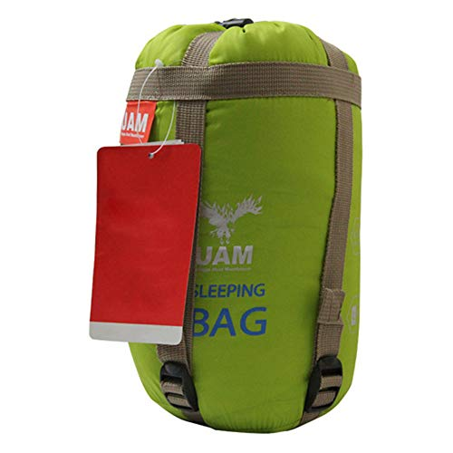 Outdoor Multifunctional Sleeping Bag Camping Sleeping Bag Polyester Lightweight Tent Mat Travel Bedding Accessory Portable Sleeping Sack 1pc Green