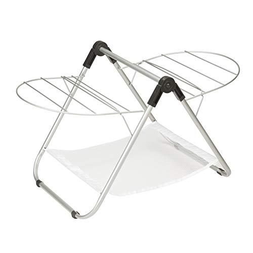 Honey-Can-Do DRY-03623 Gullwing Estante de Secado de Mesa, 16,9 W x 29 H, Plateado