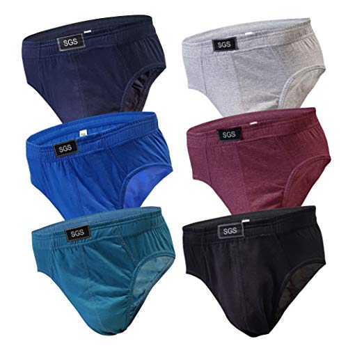 6-12 Slips Herren Unterhosen Männer Slip Unterwäsche Unterhosenslip Unterhose aus Baumwoll (L, 6.Stück 580), Herstellergröße 7