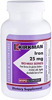Iron 25 mg Bio-Max Series Capsules - Hypo - 120 ct by Kirkman Labs