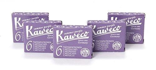 Kaweco - Cartucce di inchiostro corte per penne stilografiche, 30pezzi, colore: viola