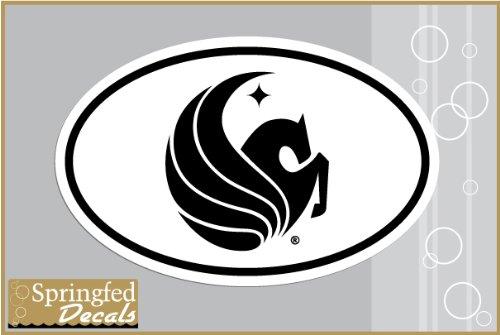 UCF Knights PEGASUS Logo Euro Style Vinyl Decal #2 Central Florida Car Truck Sticker