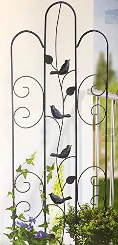 Garden Feelings Rankspalier Eisen, pulverbeschichtet, einbrennlackiert; B×H: ca. 38×118 cm; Verschiedene Modelle (4 Vögel Schwarz)