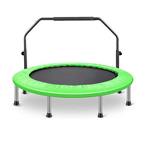 Kleine trampoline Fitness Trampoline met Handvat Safety Pad, in hoogte verstelbaar 35