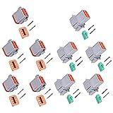 Tuimiyisou 5 Piezas Impermeable Conector Eléctrico Enchufe Conector Impermeable Alambre Automotriz para Barcos, Conector de Motocicletas 14 a 20 AWG sobrecarga
