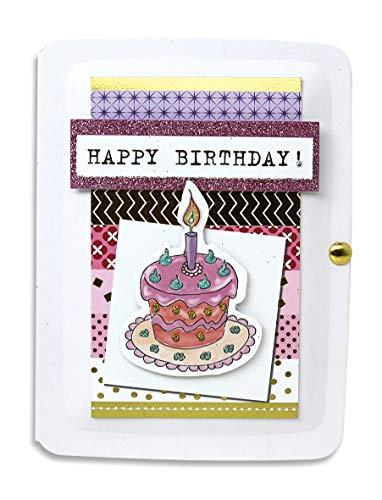 Uitklapkaart, verjaardagskaart felicitatiekaart verjaardag geldgeschenk wenskaart