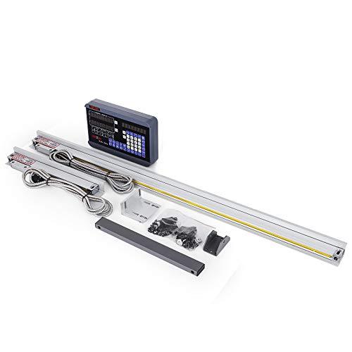 Moracle Escala Lineal de 250 mm y 1000 mm Regla Digital de 2 Ejes Herramienta de Medición para Fresadoras Rotativas