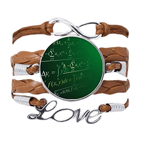 DIYthinker Calculus Mathematical Formulas Painted Stick Bracelet Love Chain Rope Ornament Wristband Gift
