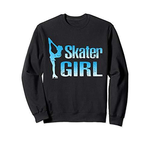 Cute Ice Sk.ater Fig.ure Skat.ing - Front Print Sweatshirt...