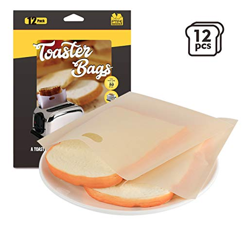 Sacchetti per pane tostato, realizzati in fibra di vetro e teflon a uso alimentare, con superficie antiaderente al 100% su entrambi i lati, non tossica e insapore. Senza BPA, senza PFOA e approvato dalla FDA, sano e sicuro. Resistenti al calore fino ...