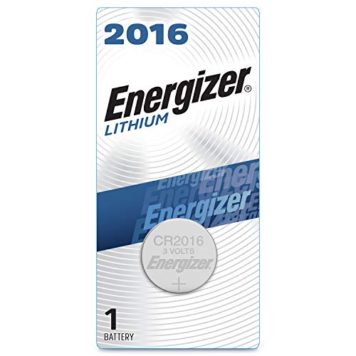 Energizer 2016 Batteries 3V Lithium, (1 Battery Count), Black/Silver (EVEECR2016BP)