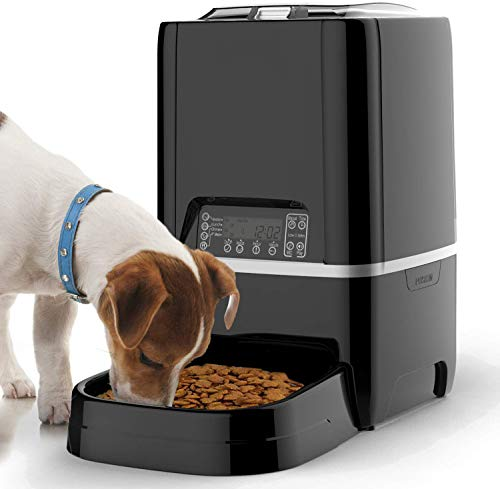 6.5L Pet Feeder,Automatic Cat Feeder   Timed Programmable Auto Pet Dog...