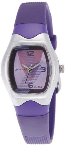 Sonata Analog Purple Dial Women's Watch -NJ8989PP01C