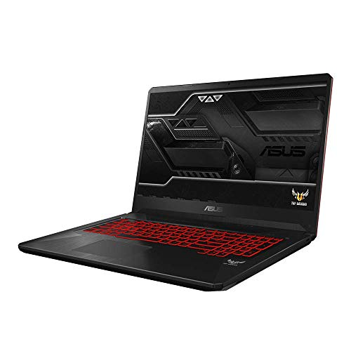 ASUS TUF Gaming FX705GE (90NR00Z2-M02090) 43,9 cm (17,3 Zoll, FHD, WV, Matt) Gaming-Notebook (Intel Core i7-8750H, 8GB RAM, 128GB SSD, 1TB HDD, NVIDIA GeForce GTX 1050Ti (4GB), Windows 10) Black