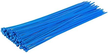 "GTSE 14"" Blue Zip Ties, 100 Pack, 50lb Strength, UV Resistant Long Nylon Cable Ties, Self-Locking 14 Inch Tie Wraps"