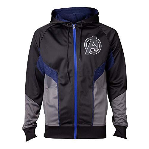 Difuzed Avengers: Unendlichkeit Krieg - Hologramm Avengers Logo Herren Kapuzenpulli - Mehrfarbig, L