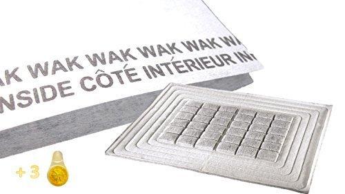 Universal de campana de alto rendimiento Filtro de carbón activo, personalizable zuschnitt, 47x 57cm + 3Aroma dispensador para su Lavavajillas + 2plano filtro con indicador de saturación